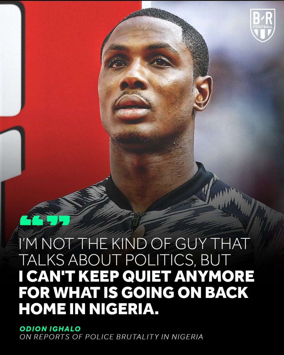 RT @brfootball: Odion Ighalo speaks out on reports of police brutality in his native Nigeria 🗣️ https://t.co/F7XTPR8q7m