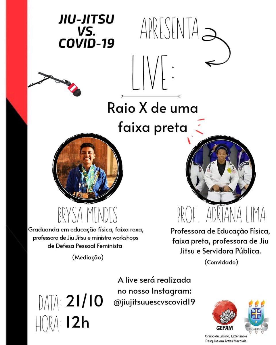 Live boa pra hora do almoço aí, galera. Duas brabas do jiu-jitsu do sul da Bahia.   #bjj #jiujitsu #mulheresnotatame https://t.co/VK0OiX8NOa