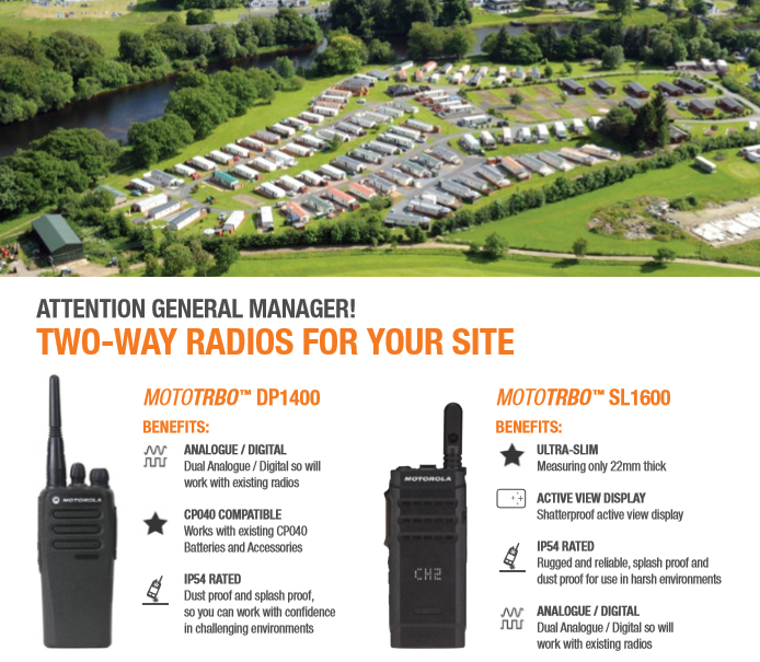 Running a #holidaypark requires a lot of organisation and vital communication. So, why use two-way radios? - Assist with on site and day to day running - Summoning a lone member of staff in the event of an emergency - Respond to customer enquires faster  #MotorolaSolutions