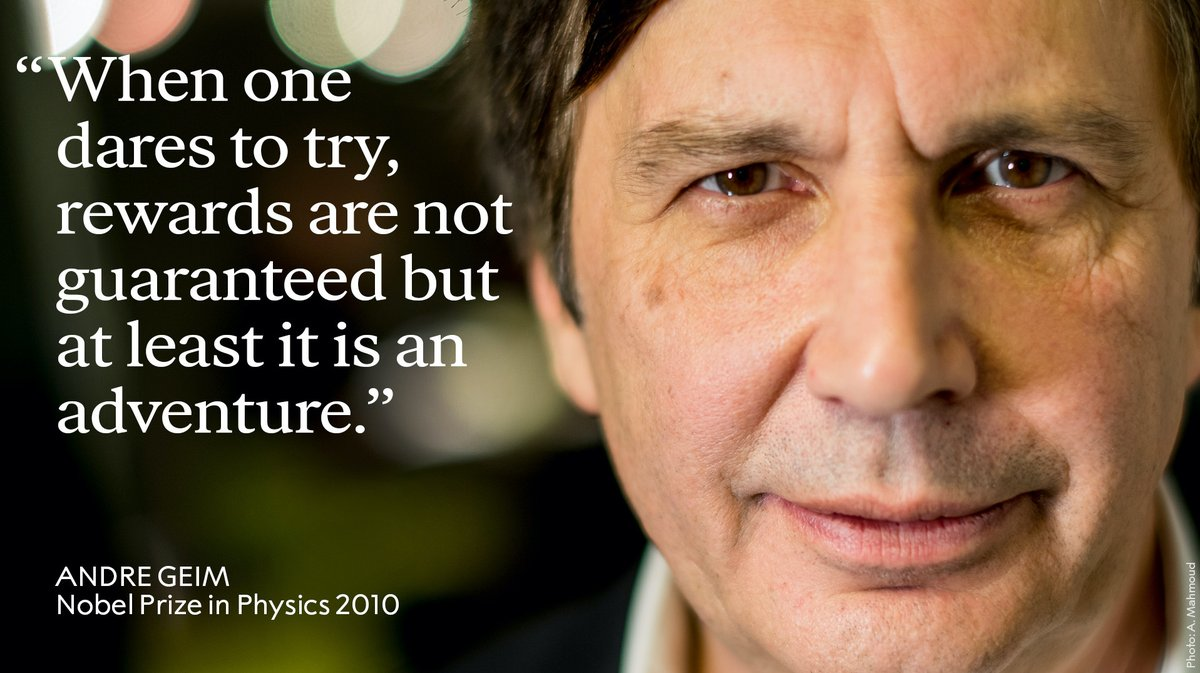 Happy birthday to the co-inventor of graphene, Andre Geim. #NobelPrize