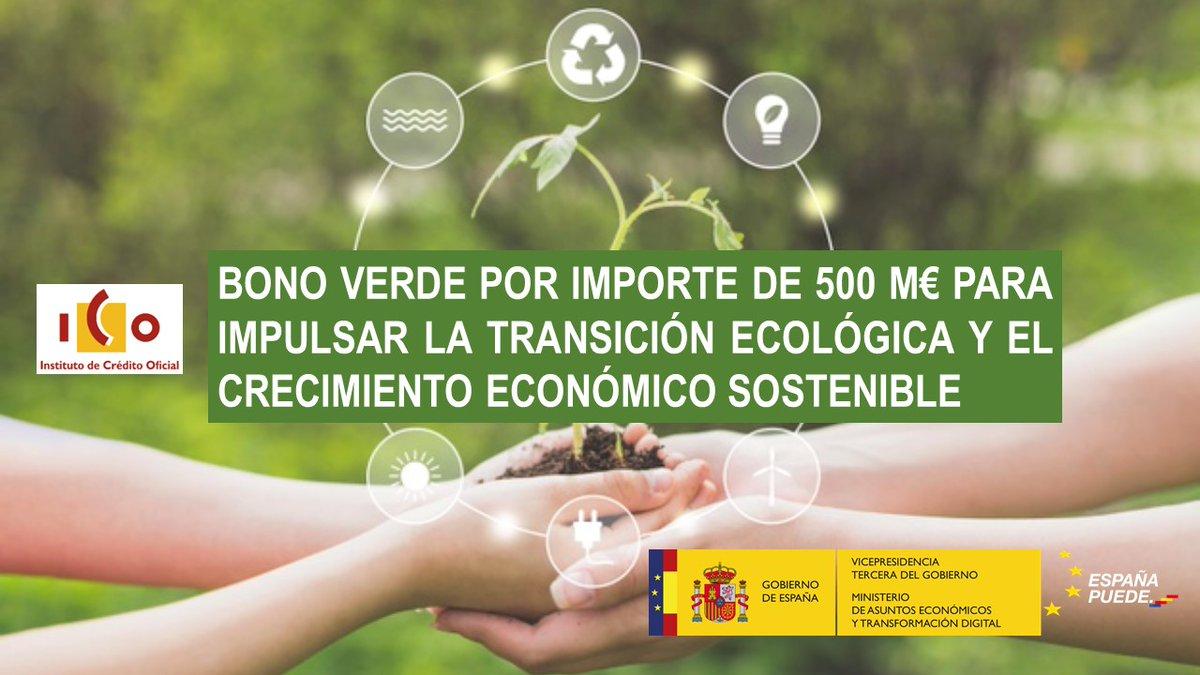 Twitter Asuntos Económicos y Transformación Digital. 🟢 @ICOgob lanza su segundo bono verde ...: abre ventana nueva