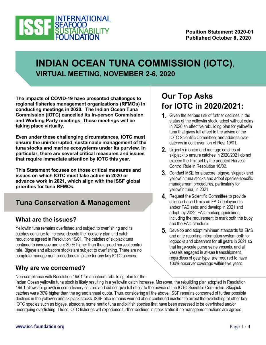 If #IOTC implements a rebuilding plan for #yellowfin #tuna stocks, it could imply a 15-20% reduction from 2017 #Indian #Ocean catch levels. https://t.co/3jDXJonDqK https://t.co/akdyb3JdAl