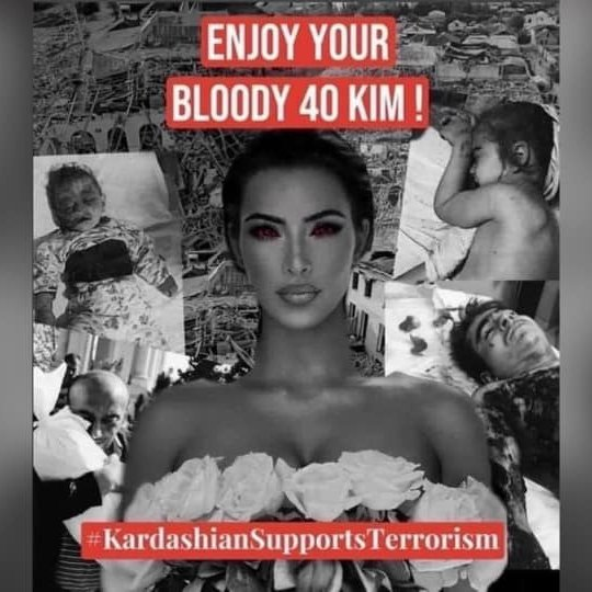 Happy bloody birthday @KimKardashian Remember #Ganjacity victims when blowing candles on ur birthday cake. Remember #Nigar who whould never do this because of your #terrorism support #Kardashiansbabykiller #ArmenianTerrorism #KimKardashianİsAChildKiller   #HappyBirthdayTerrorist https://t.co/VoinGzTVeX