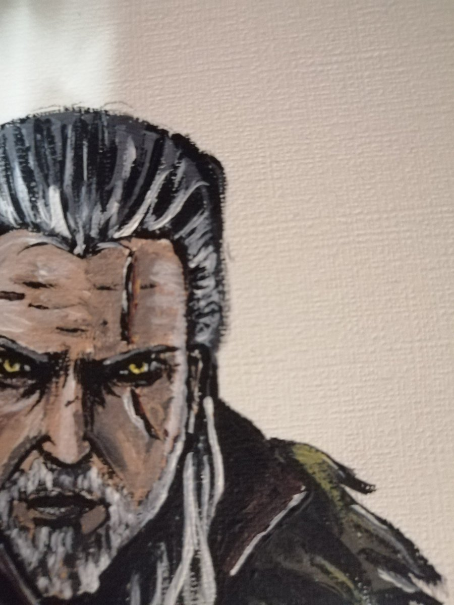 Working on new acrylics fanart, this time #GeraltOfRivia #Witcher3 #TheWitcher3 #TheWitcher https://t.co/of0tD8Ahjw