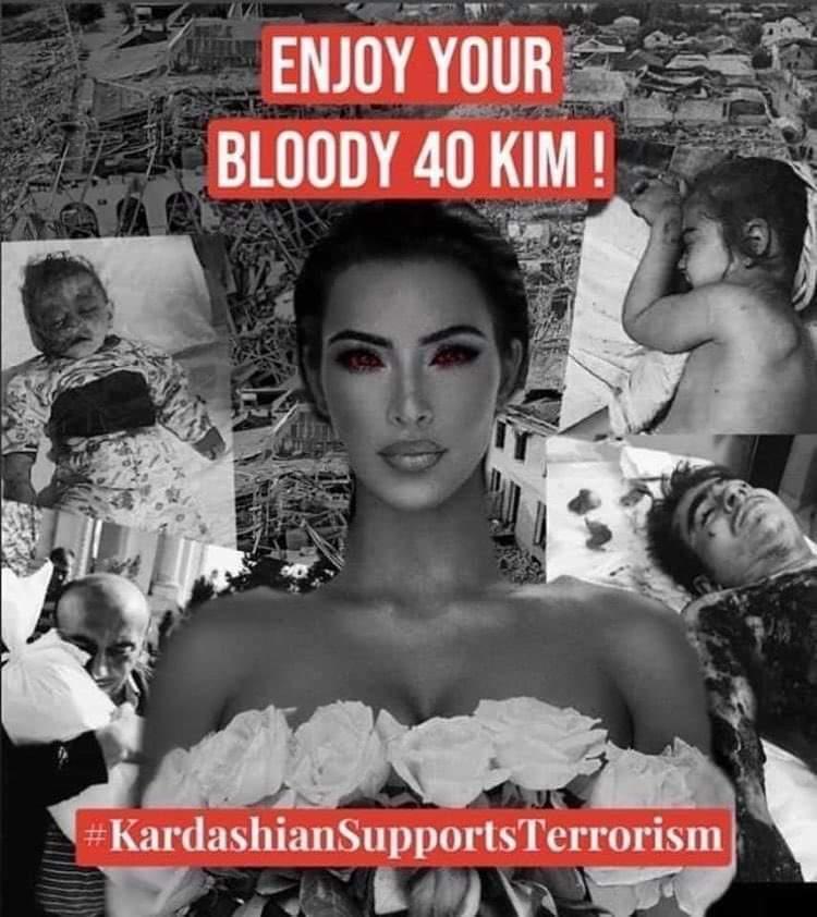 @TravisLynnWhite @KimKardashian #KardashiansSupportTerrorism #HappyBirthdayTerrorist #HappyBirthdayKimKardashian #KarabakhIsAserbaijan #PrayForGanja #ChildrensRights #BabyKillerArmenia #StopArmenianAgression #StopArmenianTerror #StopArmenianOccupation #ArmeniaKillsCivilians #DontBelieveArmenia https://t.co/HyCOFL4RTi