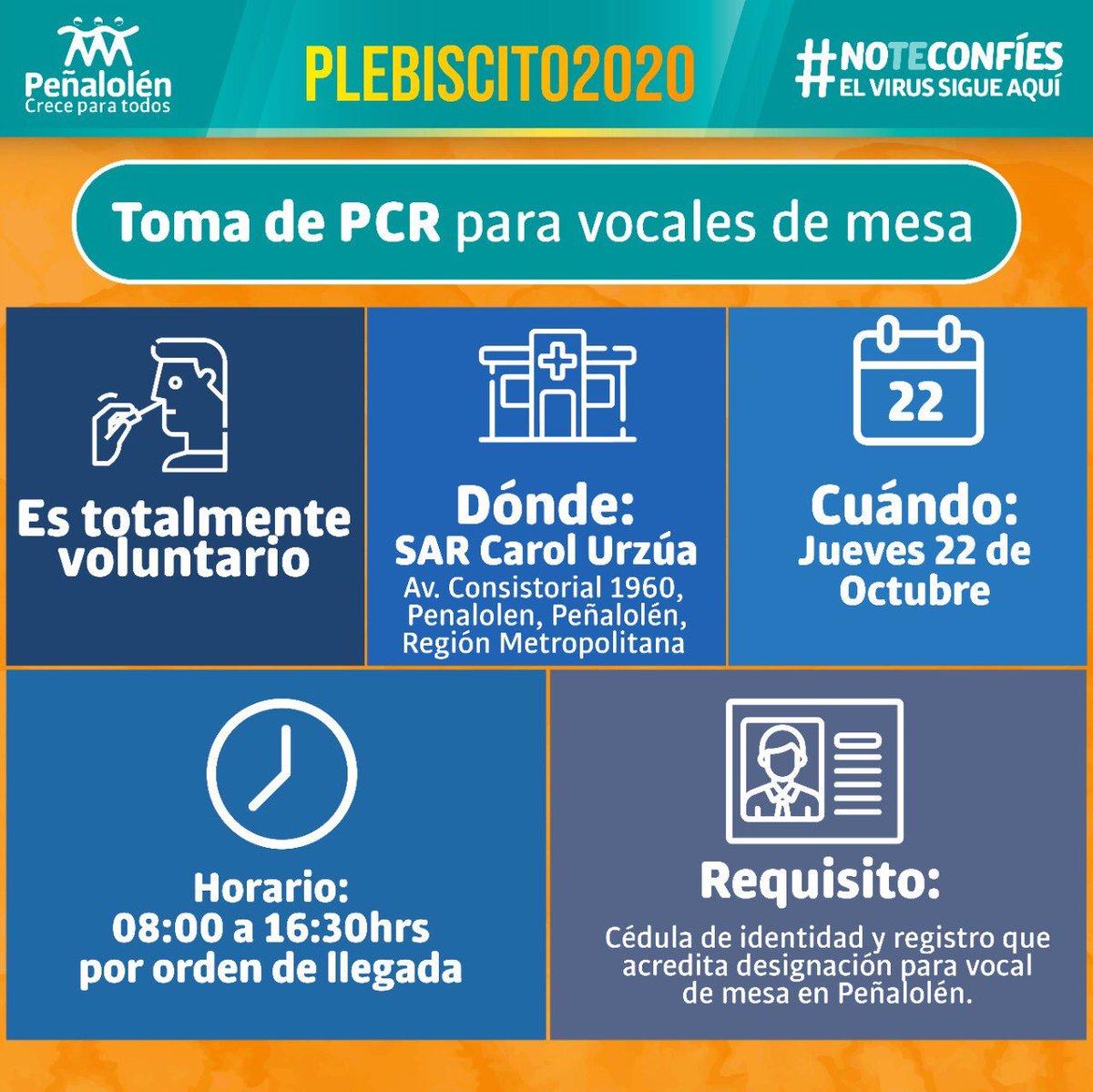 En Peñalolén nos cuidamos entre todos, si eres vocal de mesa está información es para ti 👇🏻