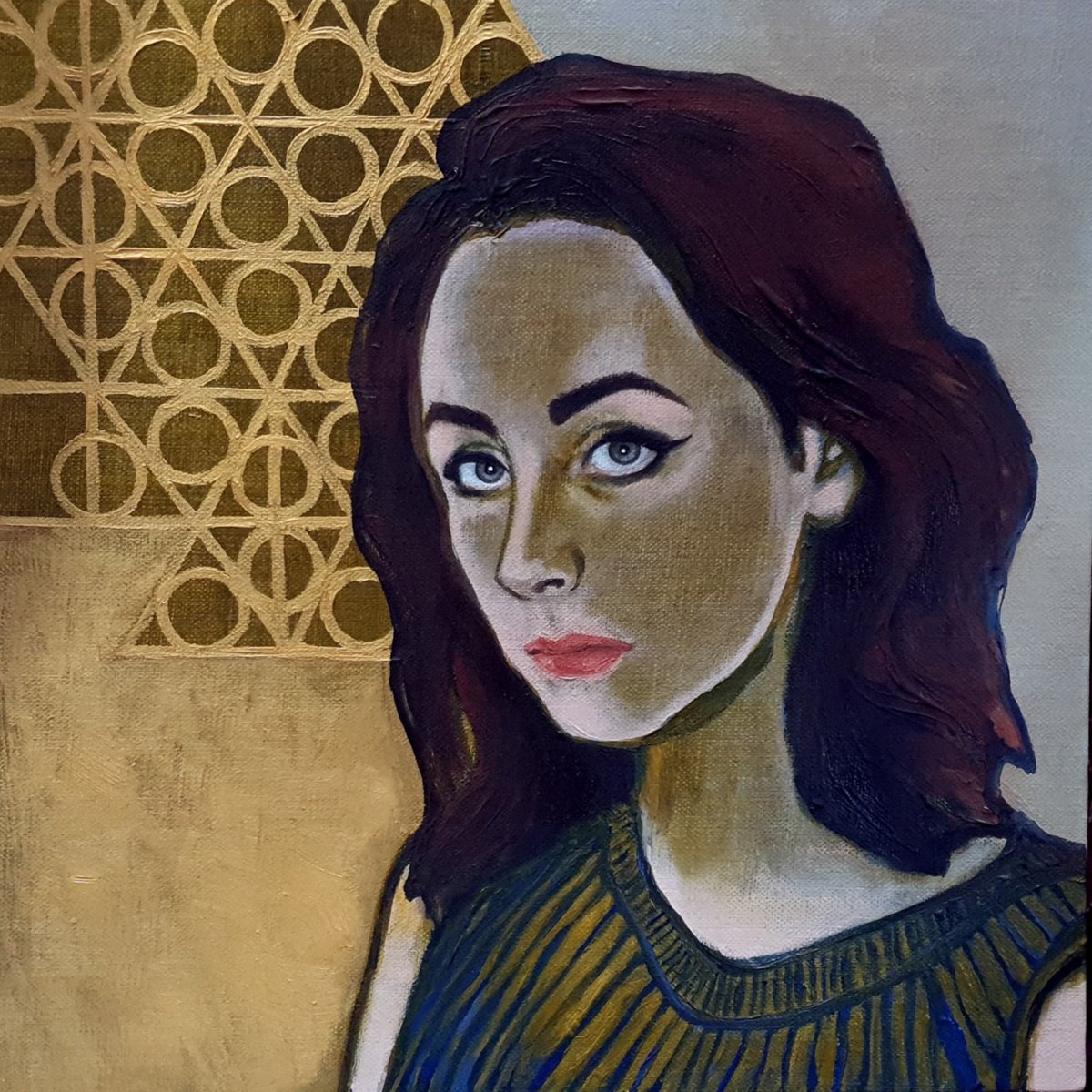 'Matilda': oil on linen canvas board (30cmx30cm). Fourth in a series of portraits using a limited palette and completion of the work in under 20 hours.  #portraitpainting #oilpainting #womenartists #painting #portraiture #lockdownportraits #contemporaryart https://t.co/Y8PhQNAVit