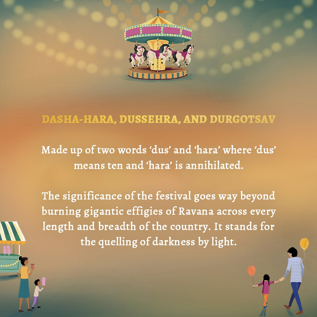 Traditionally representing the legend of Rama and Ravana and celebrated for different reasons in different parts of the country, Dusshera is more than a festival.  It's a day to celebrate the triumph of good over evil and turn to new beginnings. Stay tuned!