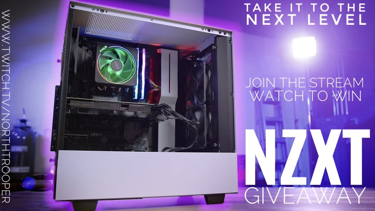 Take it to the next level,  @TheNorthTrooper the dude that keeps on giving last month 10k in giveaways now he's giving away a #NZXT PC that's crazy. Tune in to win the giveaway happens at the end of the month   #TwitchStreamers #twitchaffiliate #PCGamer #pcgaming https://t.co/gzB57cFN2m