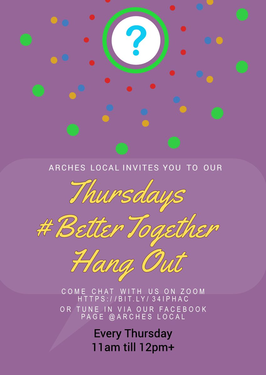 Tune in tomorrow #Thursday from 11am live on Facebook for our #BetterTogether Hangout to discuss local issues, ask any questions to our #BigLocal partnership & guests. Join us then on Zoom from 11am - 12pm+ by clicking the link https://t.co/zkSLVSLc56 or interact via #Facebook https://t.co/P3D6HgfTJF