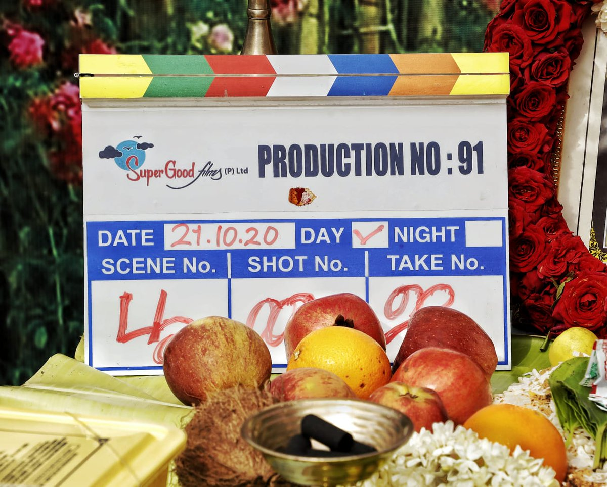 Actor @JiivaOfficial will be doing the lead in @SuperGoodFilms_ Production no.91, directed by debut filmmaker #SanthoshRajan a former assistant to director Sasi. The shooting commenced from today with a Pooja.  #ProductionNo91 @SuperGoodFilms_ @DoneChannel1 https://t.co/kQQdbIVIxu