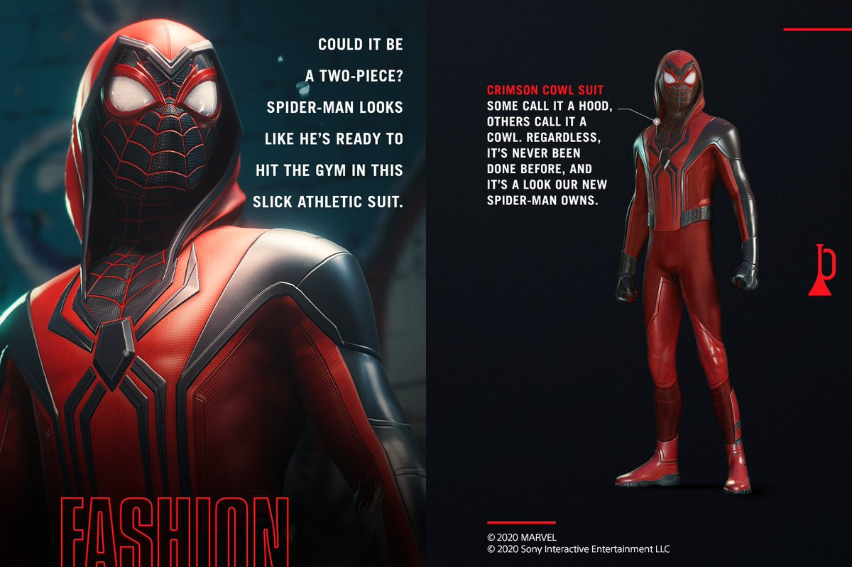 Another new suit in 'Spider-Man: Miles Morales' comes with a hood, per @insomniacgames https://t.co/LsJRZWK0ea