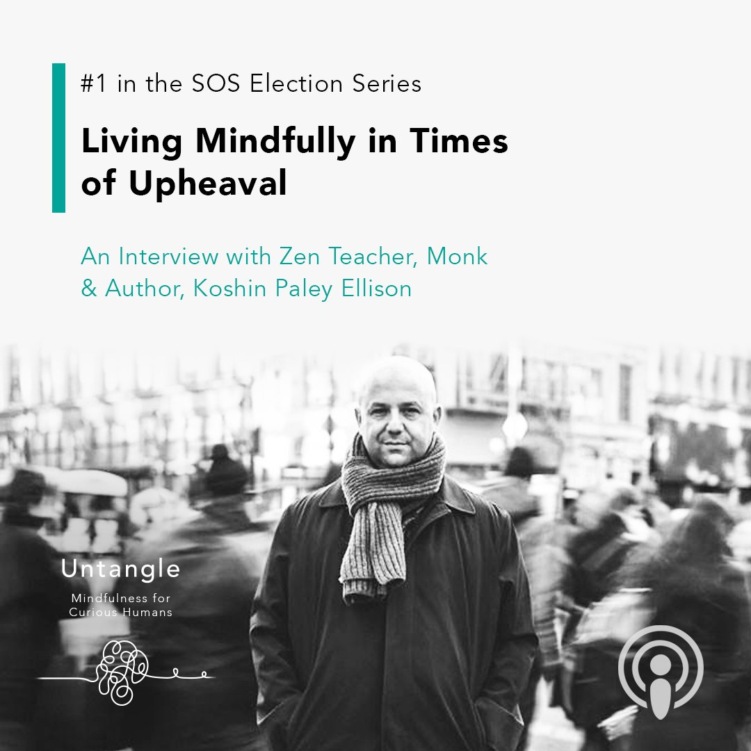 How are you going to nourish your life?   Listen to this week's episode with Zen Teacher, Monk, and Author, @koshinpaley on how to deal with stressful reactions, especially those triggered by the US election. https://t.co/gcpEZMMDWR  #Podcast #Untangle #Muse #USelection https://t.co/ouoLEEiAy6