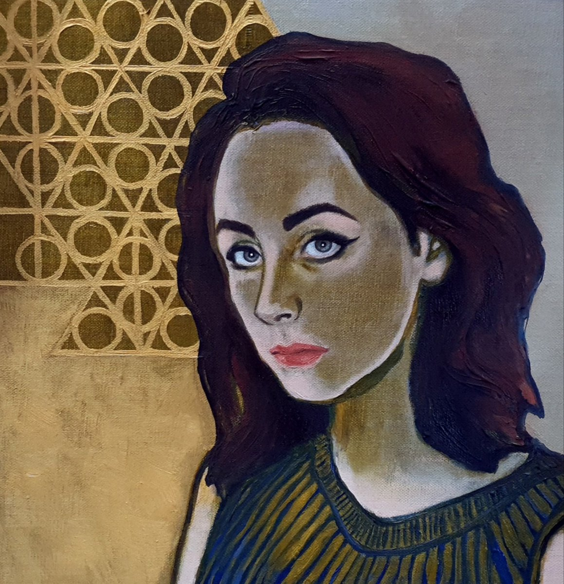 'Matilda': oil on linen canvas board (30cmx30cm). Fourth in a series of portraits using a limited palette and completion of the work in under 20 hours.  #portraitpainting #oilpainting #womenartists #painting #portraiture #lockdownportraits #contemporaryart https://t.co/ZZDg0KCMU8