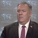 Image for the Tweet beginning: Pompeo was just asked about