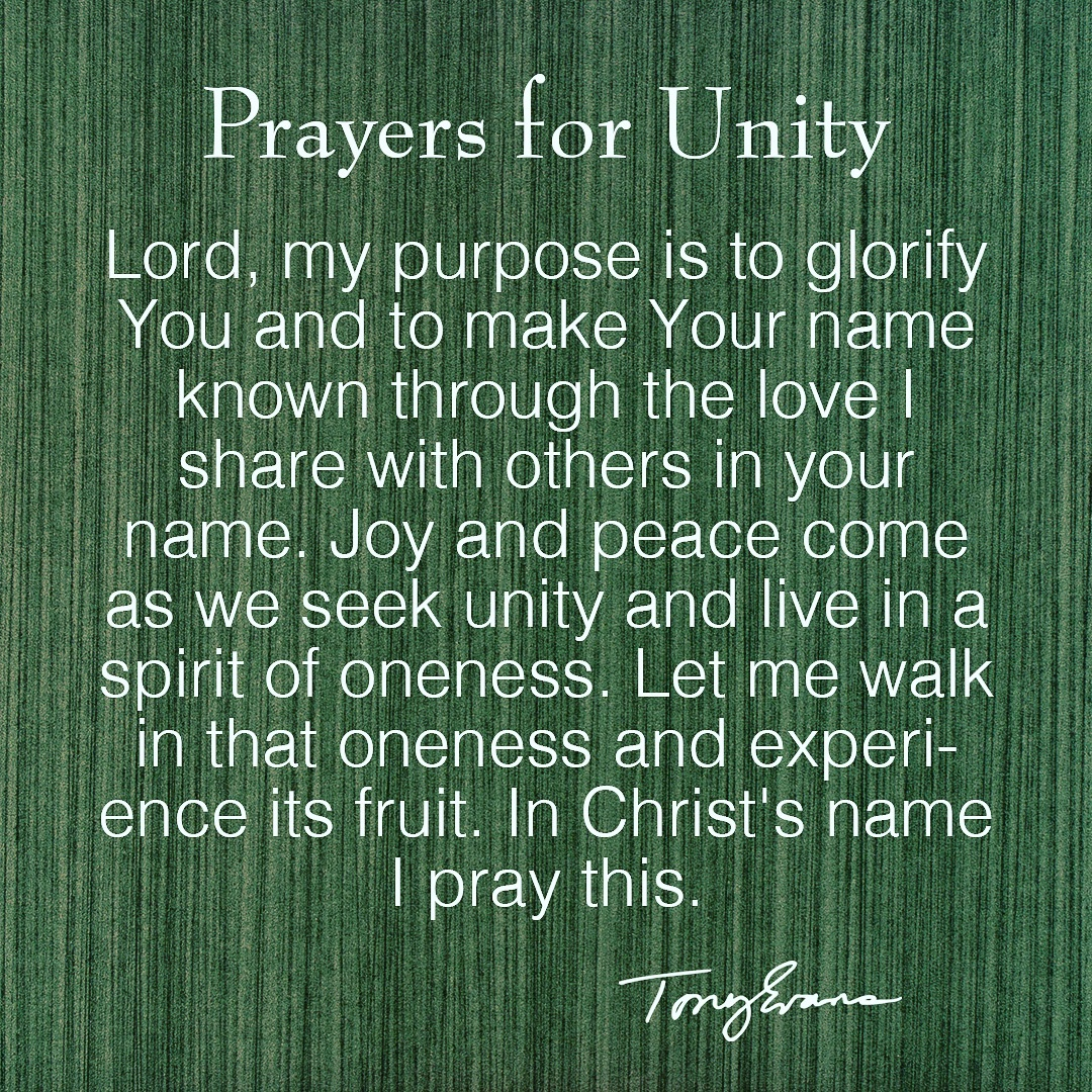 Will you pray this prayer with me today for #unity https://t.co/edy8aoQlZC