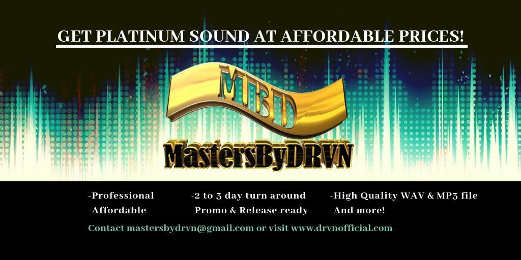 AUDIO ENGINEERING SERVICES!=> Professional, affordable and quick turnover! Let MastersByDrvn take your project to the next level! Check it out => https://t.co/o3v6iCQbwn #AudioEngineer #MixAndMastering #MusicProducer #MastersByDRVN https://t.co/sUCCgParCr