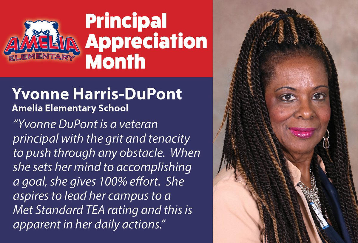 October is Principal Appreciation Month. Each day we will be highlighting each of our campuses amazing and dedicated leaders! Join us in celebrating them and showing our appreciation. https://t.co/hbHnTSz68A