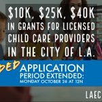 Image for the Tweet beginning: GRANT OPPORTUNITY: Licensed family child