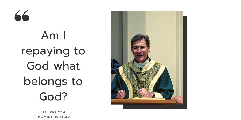 On this #WisdomWednesday reflect on the Gospel message from Sunday. Fr. Freitag challenges us to discern how we, who belong to God are fulfilling our purpose and using our time, talent and treasure. #Givingback #time #talent #treasure #socialgood @AbpEtienne https://t.co/xIQODyQYD7