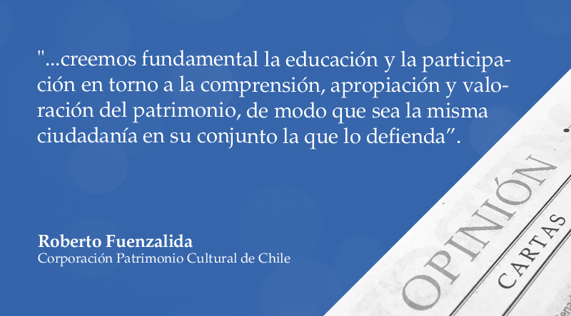 "Carta al Director | ""Pérdida de nuestro patrimonio"", por Roberto Fuenzalida https://t.co/PnnwEOIGEq https://t.co/CfSHPU8jdl"