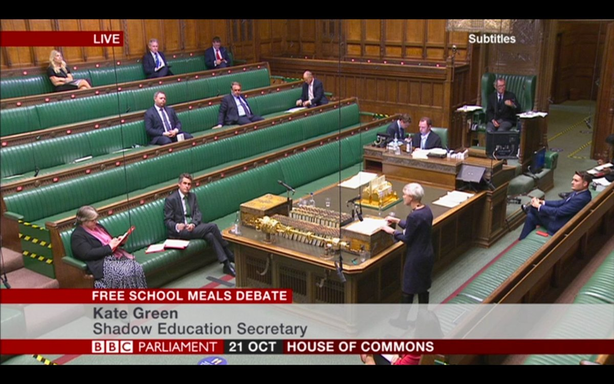 In the House of Commons, the debate on the provision of free school meals during the holidays has just begun. bbc.in/3jjzwGc