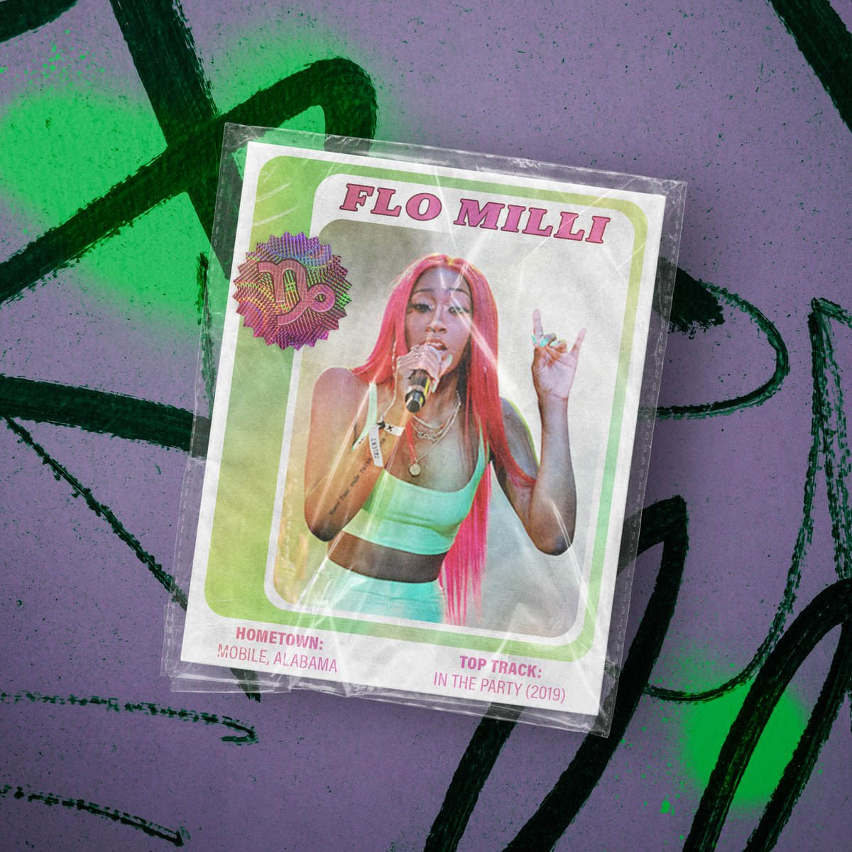 We LOVE Capricorn queen, @_FloMilli! My hobbies include: collecting allllll these #WomenInRap week trading cards, and nothing else. 💖  🎨: @KatiaTemkin #MTVxKatiaTemkin https://t.co/a8czyPTDdG