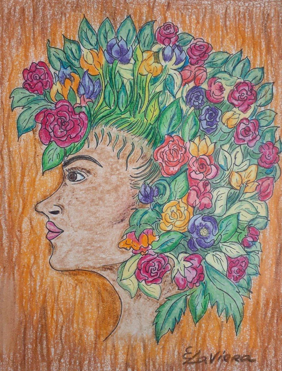 Flower crown, technique: crayons. #painting #art #artist #drawing #artwork #paint #illustration #contemporaryart #artistsoninstagram #sketch #instaart #watercolor #arte #artoftheday #acrylicpainting #draw #digitalart #abstractart #oilpainting #design #artgallery #fineart #crayons https://t.co/yz1UTpLz1p