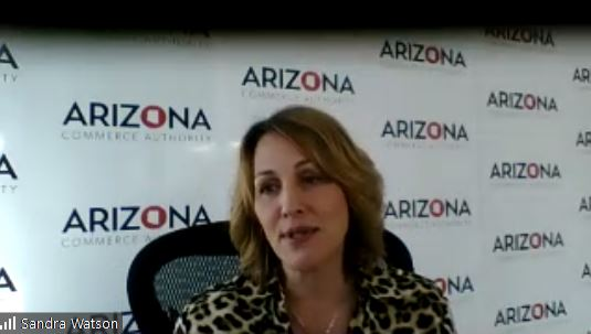 """Arizona #manufacturing discussion with @SALCLeaders - @SandraWatsonAZ: #AZ exceeds national avg in mfg jobs. """"#Talent drives every single business decision;"""" place matters and #Arizona brings both. @azcommerce https://t.co/UlSlywub0S"""