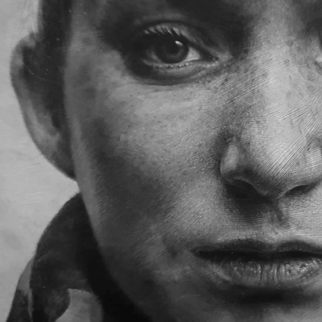 Close up #acrylicpainting #portrait #art https://t.co/ZCqPR74Rhz