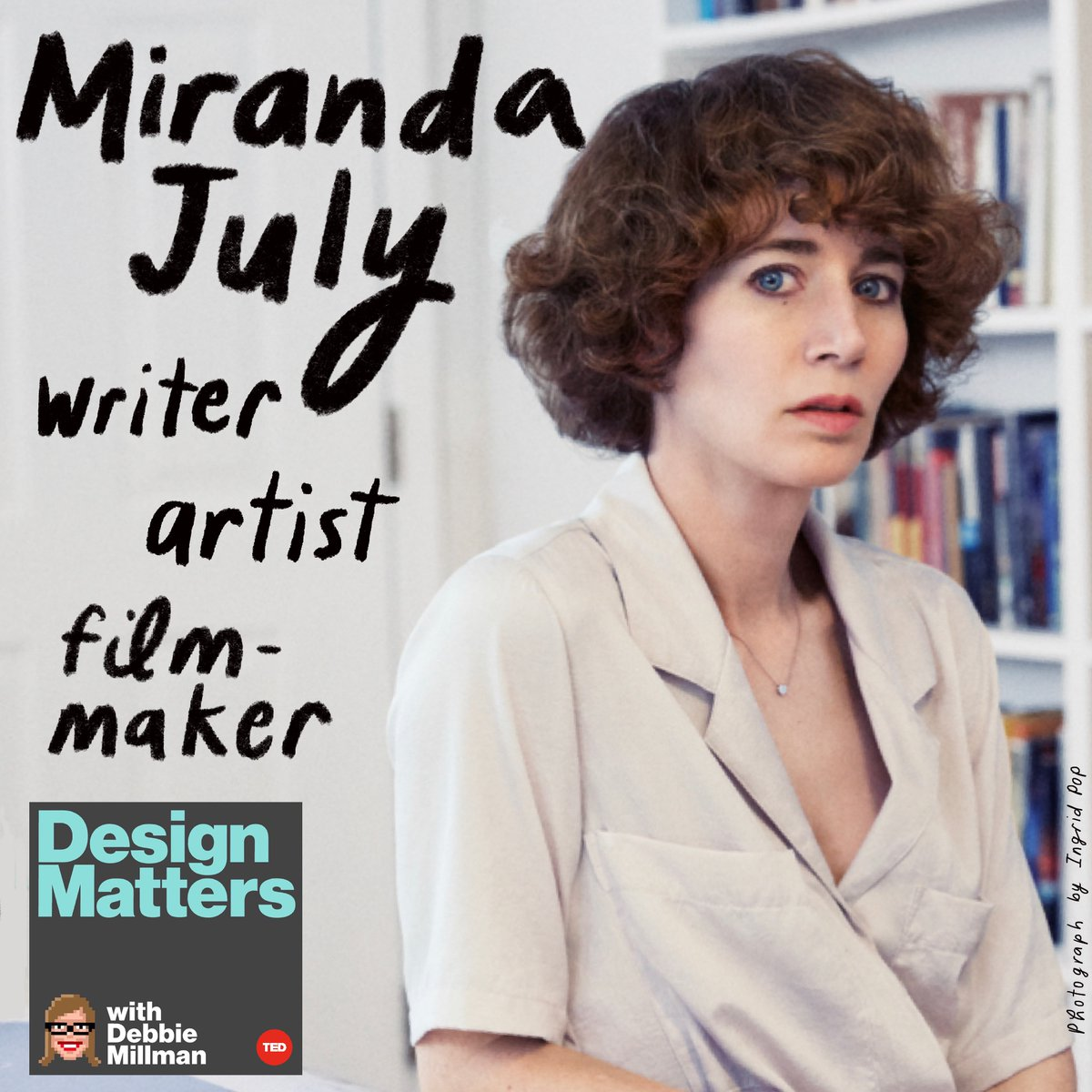 On the new Design Matters—now hosted on TED Podcasts!—writer, director and actress @Miranda_July discusses the surreality of releasing a surreal movie in an even more surreal time … and the eternal magic of kissing, cakes and clothes. Listen now! https://t.co/lMeocb8pc5 https://t.co/B1XnaAM2yQ