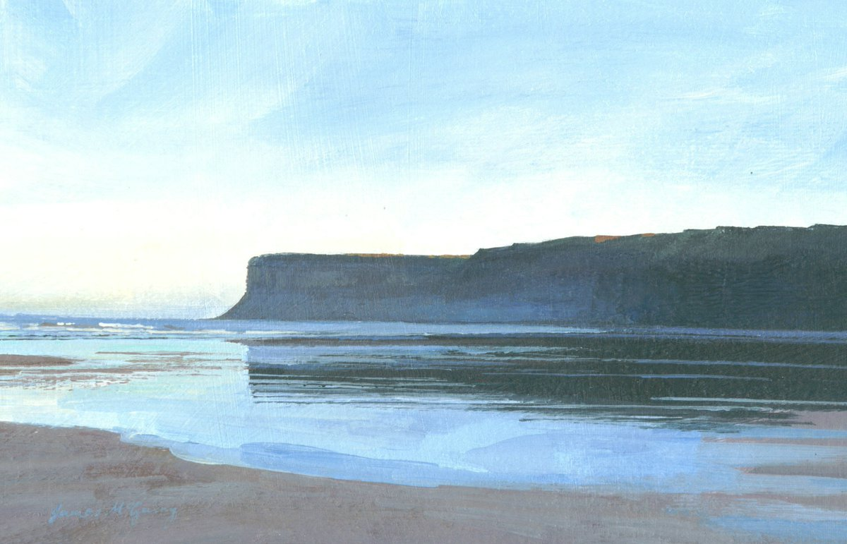 'Huntcliff'  #Painting Signed Limited Edition giclée print on sale at https://t.co/WMc1mzyOWy  #originalart #landscapepainting #acrylicpainting #beach https://t.co/a54TEr6FN6