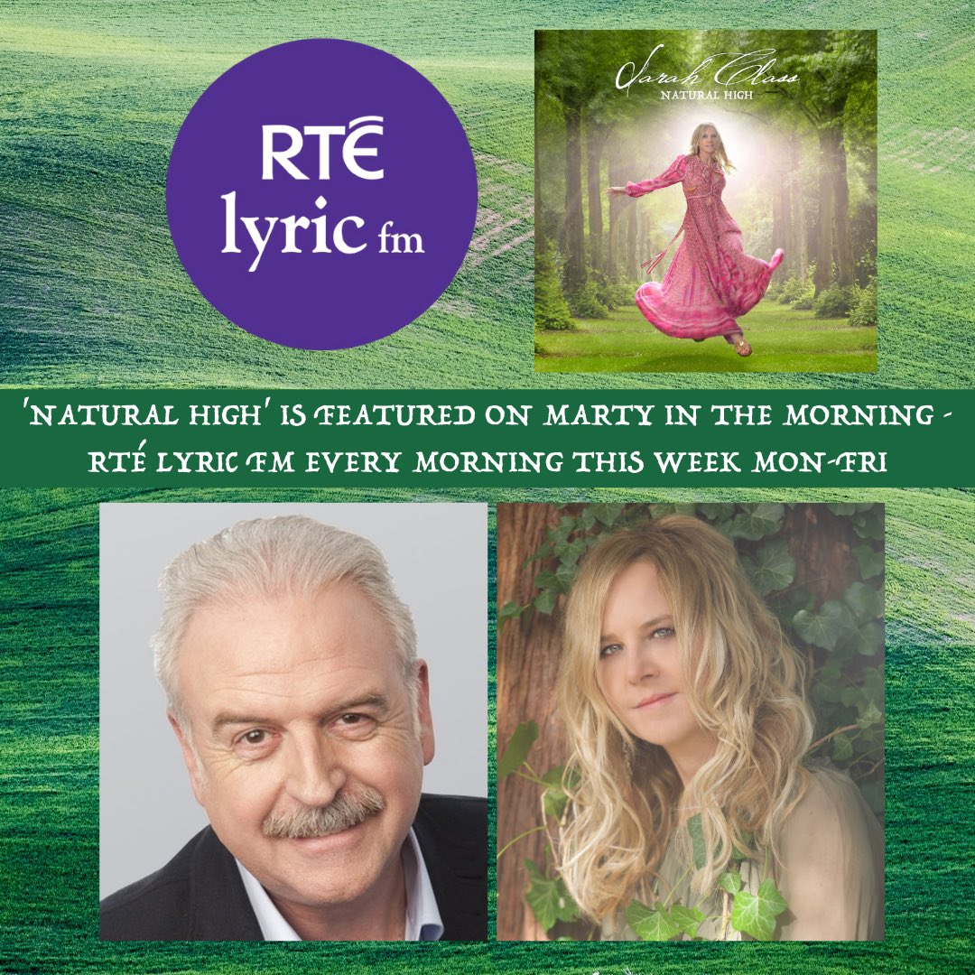 🌿⭐️🌟A reminder that Natural High is #albumoftheweek on Ireland's @rtelyricfm with Marty Whelan on Marty in the Mornings! Catch up on Mon/Tue/Weds shows at: https://t.co/qU67J07W6G A track from #NaturalHigh will be played each day after the travel news around 9.22am! 🌟⭐️🌿 https://t.co/bgVybzS1k2