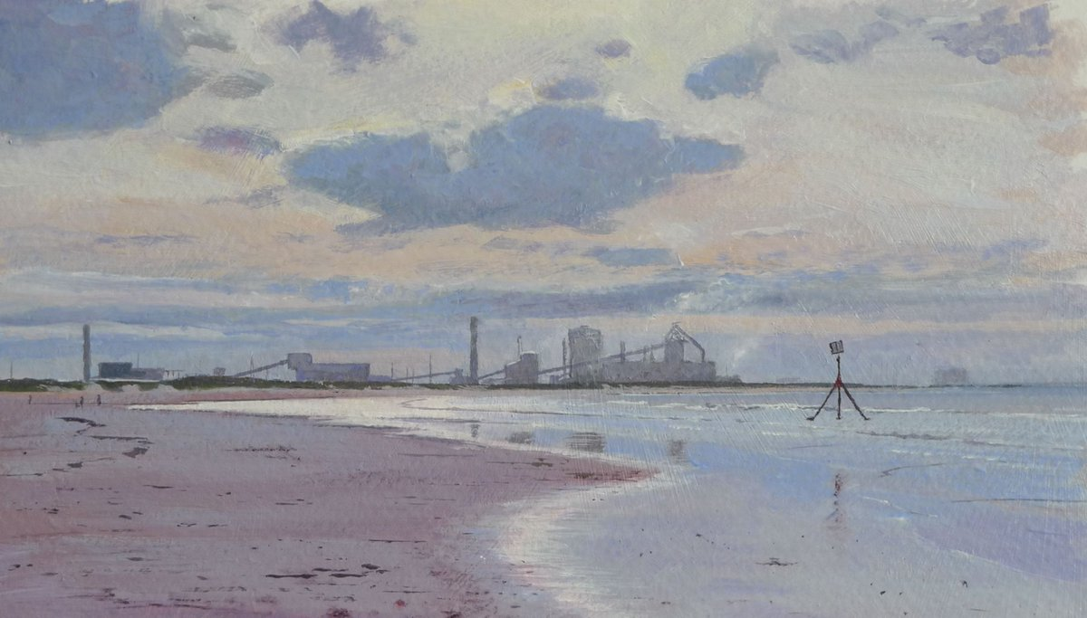 'Coatham Beach' #Painting Signed Limited Edition giclée print on sale at https://t.co/TdPC7AJalP #originalart #landscapepainting #acrylicpainting #beach #Redcar https://t.co/awWqtC2NWc