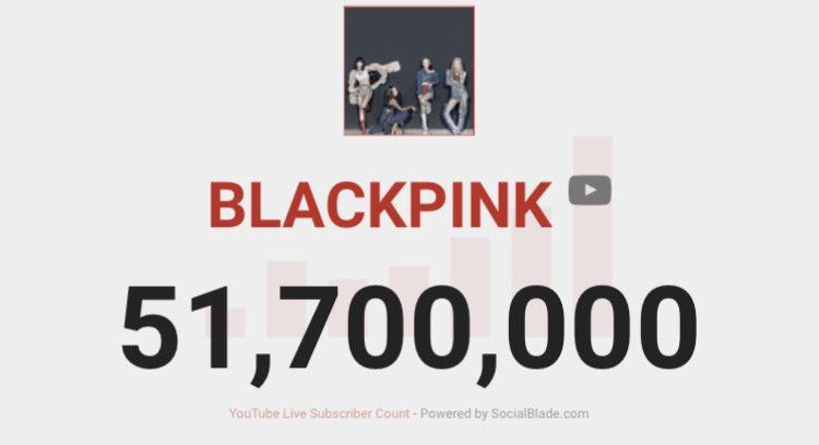 [🎉201022] BLACKPINK YouTube Channel has surpassed 51.7 MILLION SUBSCRIBERS 🔥🚀   #BLACKPINK @BLACKPINK https://t.co/IYfH4qbljH
