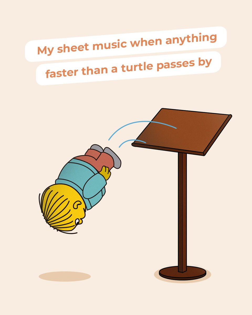 No matter how many clothes pegs we use to keep the sheet music in place, it always ends up flying away!! 💨 😂   #musicmeme #musiclife #sheet #music https://t.co/LIc4x2LQmp