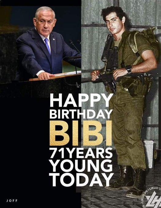 Happy Birthday PM Benjamin Netanyahu ji, Long live Bharath      Israel friendship
