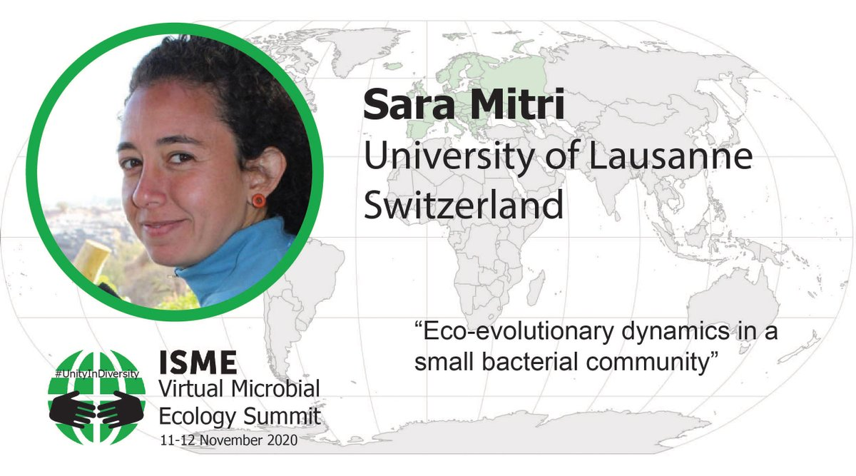 Its my special pleasure to announce spotlight #13: @saramitri at @DMF_UNIL will tell us about social interactions in bacterial communities and how they evolve. @ISME_microbes @gregory_annc @mgrntwrkr @jillpeterplan