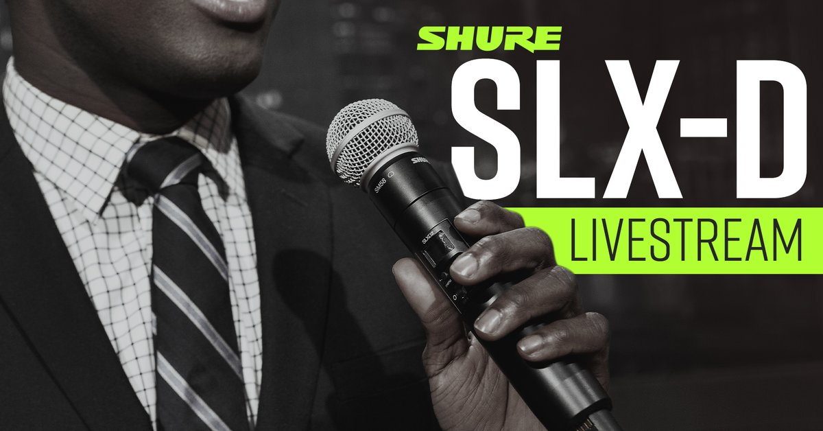 Join Ben Ash and @shures Market Development Specialists as they walk you through the SLX-D product line from top to bottom, highlighting key features and application recommendations. Click the link in our bio to RSVP! #SamAsh