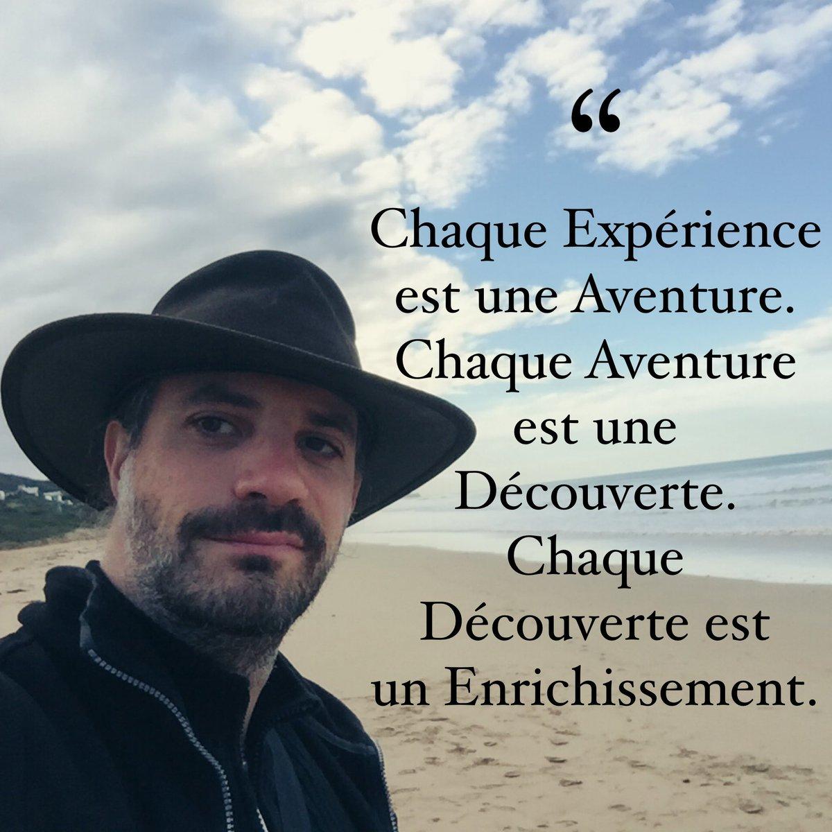 Chaque #Expérience 🧪 est une #Aventure 🤠. Chaque Aventure est une #Découverte. Chaque Découverte est un #Enrichissement. https://t.co/EJQcIrAjjh