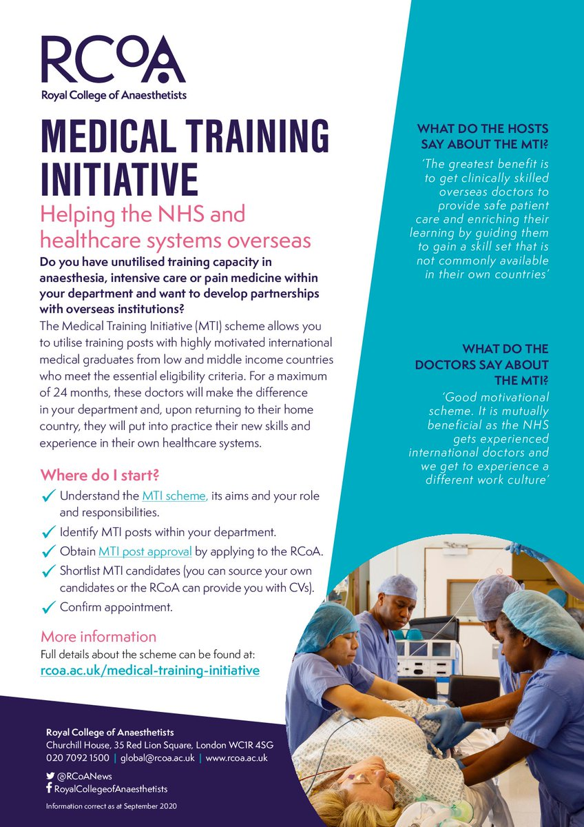 Do you have unutilised training capacity & want to help the #NHS & healthcare systems overseas?   The MTI scheme allows you to utilise training posts with highly motivated international medical graduates & build partnerships globally.  Full details here: https://t.co/BHyC5HK8Pc https://t.co/UmrLuLmhey