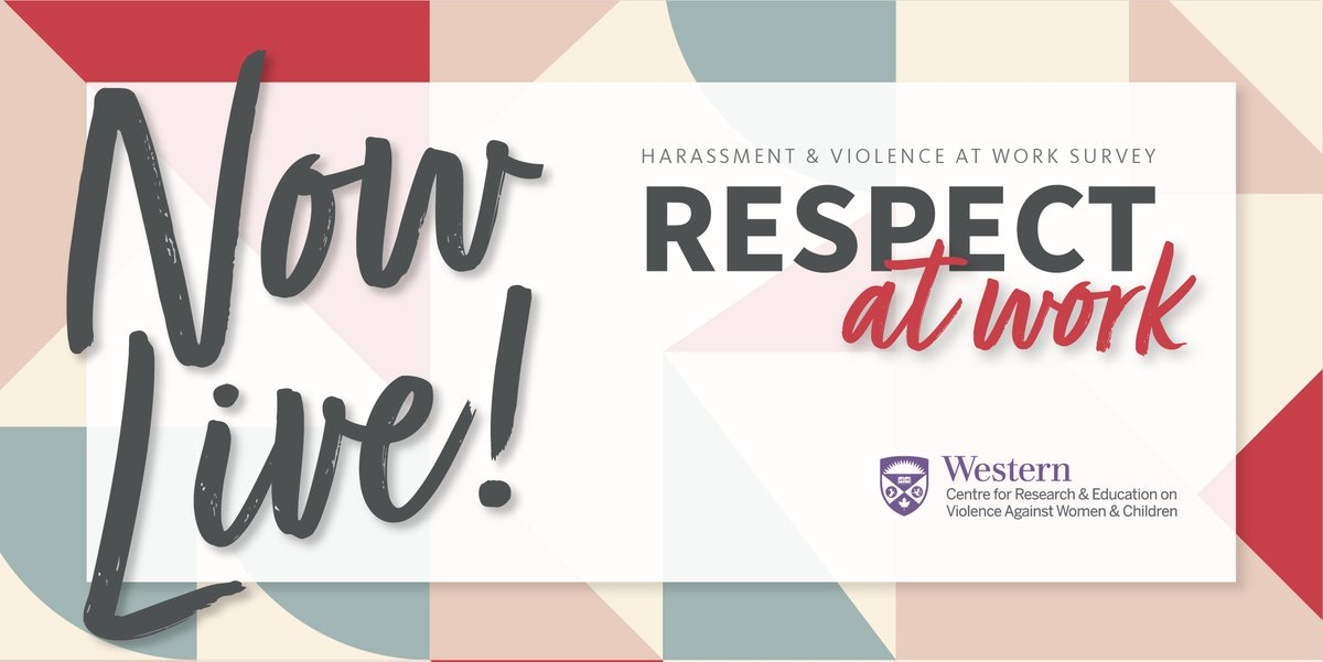 NOW LIVE! We've launched a new national survey on workers' experiences of harassment & violence at work. Click to learn more & participate: cutt.ly/KgaO9GD #RespectAtWork #RespectAuTravail