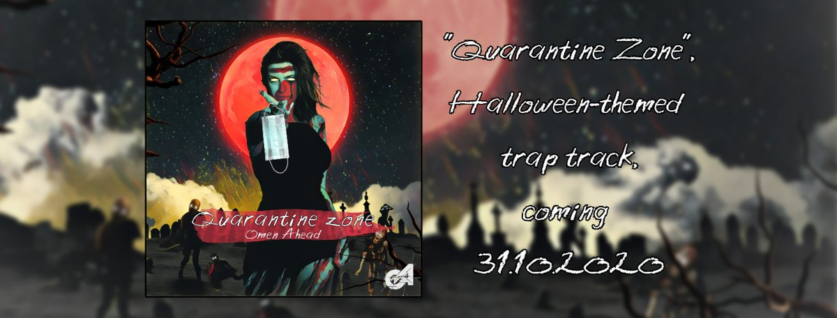"""🧟""""Quarantine Zone"""" // Coming 31/10 on all digital stores 🔊 This is my Halloween 2020 trap track! Wear your mask, grab your chainsaw and brace yourself!😷 - #omenahead #musicproducer #quarantinezone #quarantine #zone #edm #electronicmusic #newrelease #trap #hybridtrap #greece https://t.co/eTibLoJqPO"""