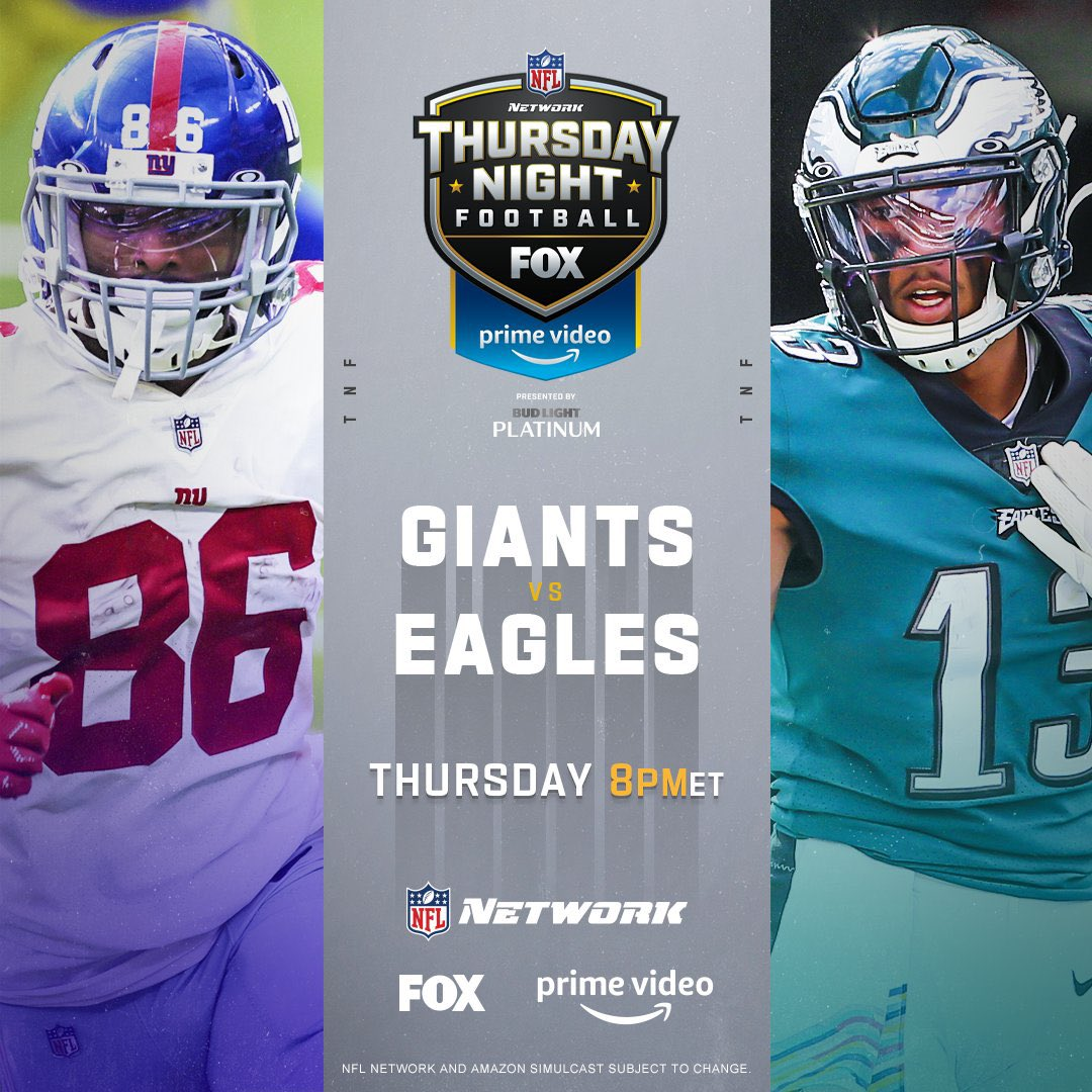 Because we haven't suffered enough. We get to watch two teams fight over a division that is 5-18-1 (and 3 of those wins are in division). Okay here goes:   RT for #GiantsPride  Like for #FlyEaglesFly   #NFCEast #NFL #TNF https://t.co/uWLYQjmVxJ