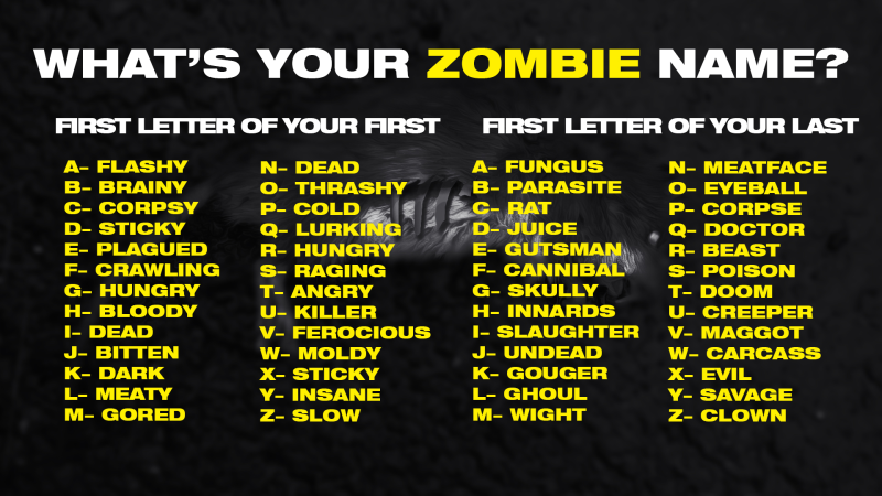What's your Zombie Royale name?
