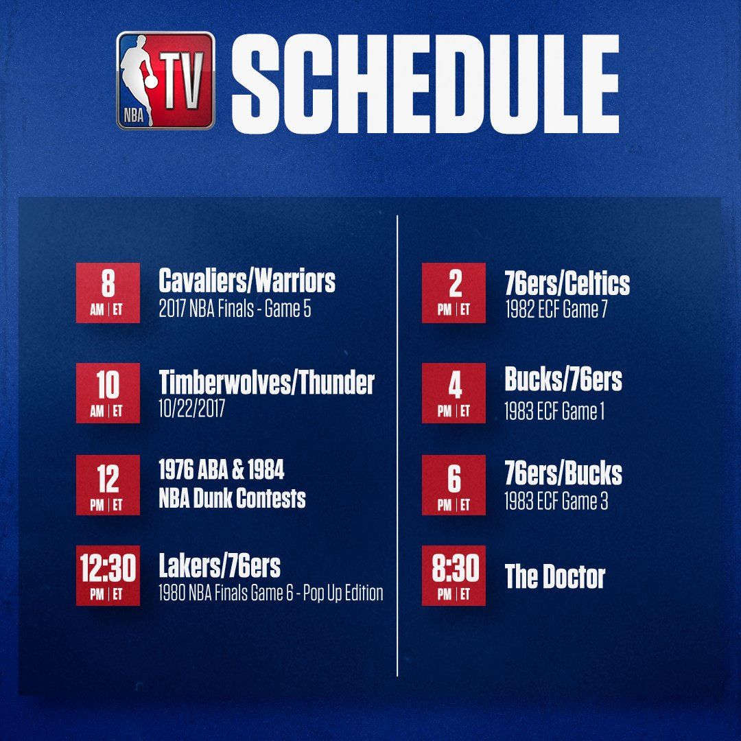 The action rolls on with another exciting lineup on NBA TV! 💥 https://t.co/9ZqtoY9iAV