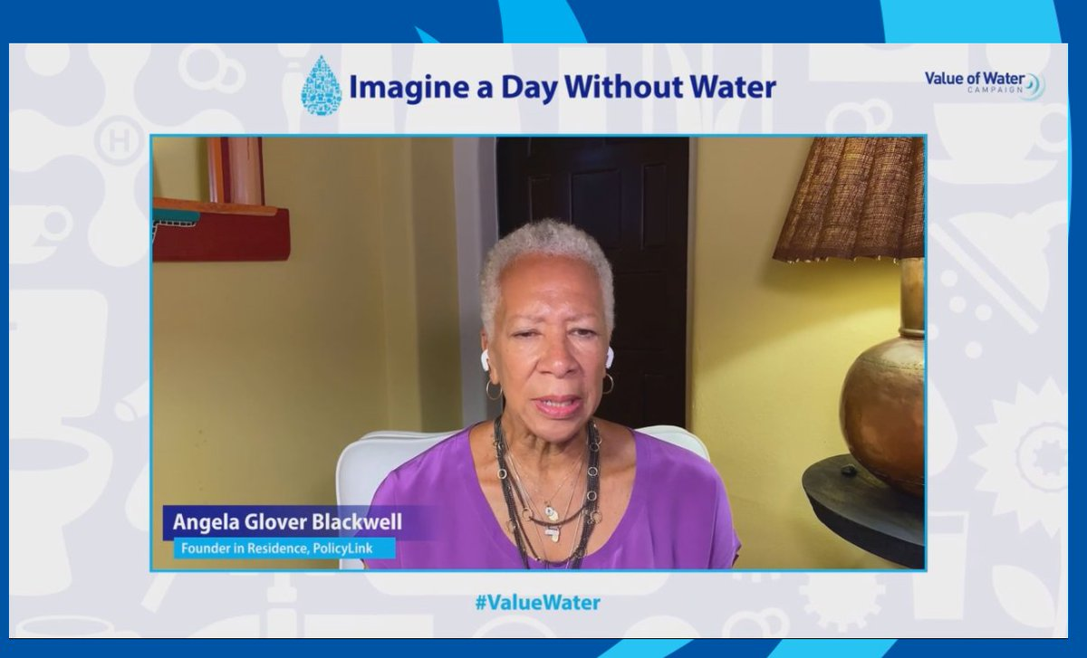 "@agb4equity says that she wants everyone to ""imagine a day where everyone has access"" because more than 2 million people do not have access, and they are the same people who've always haven't had access. There are deep racial inequities. #ValueWater https://t.co/9JCjc0ASVD"