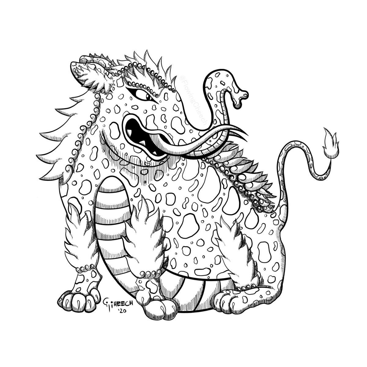 "Day 21: Beast, Yokai, Gentle Giant ~ This yokai is called ""Baku"" for anyone wondering 💤💤💤 ~ ~ #artober #artober2020 #mabsdrawlloweenclub #mabsdrawlloweenclub2020 #Monstober #Monstober2020 #digitalart #sketch #art #artistsontwitter #drawing #illustration #ink https://t.co/xFgADE3tWT"