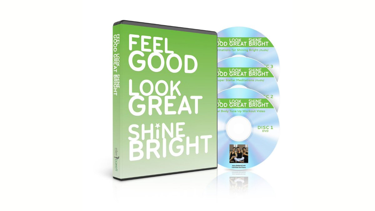 FEEL GOOD, LOOK GREAT, SHINE BRIGHT is an innovative 3-disc program created by renowned wellness coach, Ellen Barrett, that brings you the 3 foundations of sacred wellness – energy, awareness, and self-love.  Learn More: https://t.co/REysaLb8r3  #energy #awareness #selflove https://t.co/cOXSA5NWxD