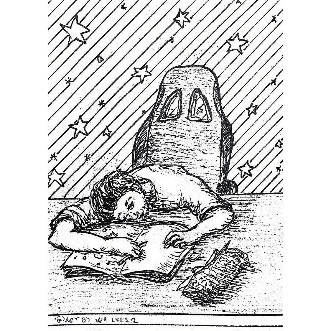 "Inktober 2020, day 21 - ""SLEEP"" . It be like that sometimes . . . . . . @inktober #inktober2020 #inktober #art #ink #illustration #drawing #draw #sketch #pencil #artwork #sleep #me #chair #table #pencilcase #sketching https://t.co/38ONdN9mmJ"